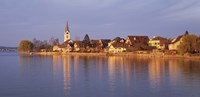 """Switzerland, Berlingen, Town along a shore by Panoramic Images - 36"""" x 12"""""""