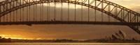 "Harbor Bridge Sydney Australia by Panoramic Images - 36"" x 12"""
