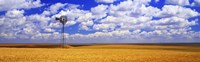 Windmill Wheat Field, Othello, Washington State, USA Fine Art Print
