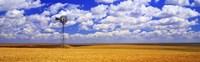 Windmill Wheat Field, Othello, Washington State, USA Fine Art Print
