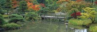 "Plank Bridge, The Japanese Garden, Seattle, Washington State, USA by Panoramic Images - 36"" x 12"""