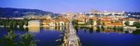 "Charles Bridge, Prague, Czech Republic, Blue Sky by Panoramic Images - 36"" x 12"""