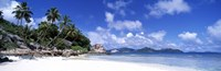 """Beach on La Digue Island Seychelles by Panoramic Images - 36"""" x 12"""""""