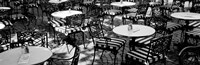 """Street Cafe, Frankfurt, Germany by Panoramic Images - 36"""" x 12"""""""