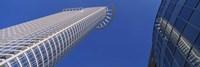 Low Angle View Of Bank Buildings, Frankfurt, Germany Fine Art Print