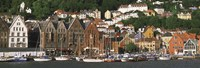 """Boats on the Water, Bergen, Norway by Panoramic Images - 36"""" x 12"""""""