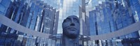 Low Angle View Of A Statue In Front Of Building, La Defense, Paris, France by Panoramic Images - various sizes, FulcrumGallery.com brand