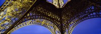 """France, Paris, Eiffel Tower, from below by Panoramic Images - 36"""" x 12"""""""