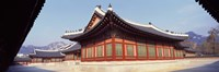 Courtyard of a palace, Kyongbok Palace, Seoul, South Korea, Korea Fine Art Print
