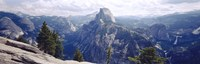 """Half Dome High Sierras Yosemite National Park CA by Panoramic Images - 36"""" x 12"""""""