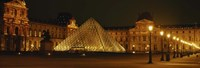 """The Louvre Lit Up at Night, Paris, France by Panoramic Images - 36"""" x 12"""""""