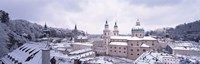 """Salzburg in winter, Austria by Panoramic Images - 36"""" x 12"""", FulcrumGallery.com brand"""