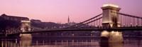 Hungary, Budapest, Szechenyi Lanchid Fine Art Print