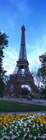 """Eiffel Tower Paris France (horizontal) by Panoramic Images - 12"""" x 36"""""""