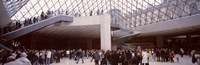 """Tourists in a museum, Louvre Museum, Paris, France by Panoramic Images - 36"""" x 12"""""""