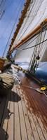 Close-up of a Sailboat Deck