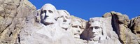 "Mount Rushmore, South Dakota (white) by Panoramic Images - 36"" x 12"" - $34.99"