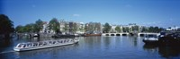 """High angle view of a ferry in a lake, Amsterdam, Netherlands by Panoramic Images - 36"""" x 12"""""""