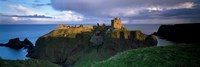 High angle view of a castle, Dunnottar Castle, Grampian, Stonehaven, Scotland Fine Art Print