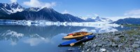 USA, Alaska, Kayaks by the side of a river Fine Art Print