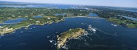 Aerial view of an island, Newport, Rhode Island, USA Fine Art Print