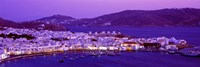 Mykonos at Dusk, Greece Fine Art Print