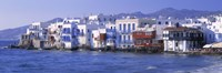 """Buildings on the Waterfront, Mykonos, Greece by Panoramic Images - 36"""" x 12"""""""