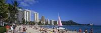 "Waikiki Beach Oahu Island HI USA by Panoramic Images - 36"" x 12"""