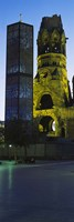 Tower of a church, Kaiser Wilhelm Memorial Church, Berlin, Germany by Panoramic Images - various sizes