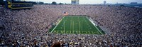 University Of Michigan Football Game, Michigan Stadium, Ann Arbor, Michigan, USA Fine Art Print