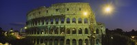 Ancient Building Lit Up At Night, Coliseum, Rome, Italy by Panoramic Images - various sizes