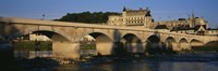 "Arch Bridge Near A Castle, Amboise Castle, Amboise, France by Panoramic Images - 36"" x 12"""