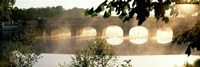 """Stone Bridge In Fog, Loire Valley, France by Panoramic Images - 36"""" x 12"""""""