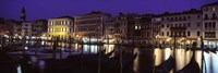 Grand Canal at Night, Venice Italy by Panoramic Images - various sizes