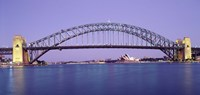 "Bridge across a sea, Sydney Harbor Bridge, Sydney, New South Wales, Australia by Panoramic Images - 36"" x 12"""
