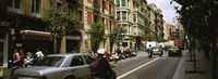 "Traffic On A Road, Barcelona, Spain by Panoramic Images - 36"" x 12"""