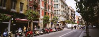 "Street Scene Barcelona Spain by Panoramic Images - 36"" x 12"""