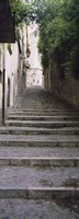 "Narrow staircase to a street, Girona, Costa Brava, Catalonia, Spain by Panoramic Images - 12"" x 36"""