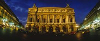 "Facade of a building, Opera House, Paris, France by Panoramic Images - 36"" x 12"", FulcrumGallery.com brand"