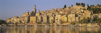Buildings On The Waterfront, Eglise St-Michel, Menton, France by Panoramic Images - various sizes