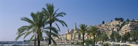 """Building On The Waterfront, Menton, France by Panoramic Images - 36"""" x 12"""""""