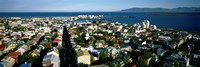 """High Angle View Of A City, Reykjavik, Iceland by Panoramic Images - 36"""" x 12"""""""