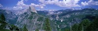 """Nevada Fall And Half Dome, Yosemite National Park, California by Panoramic Images - 36"""" x 12"""""""