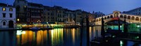 """Grand Canal and Rialto Bridge Venice Italy by Panoramic Images - 36"""" x 12"""", FulcrumGallery.com brand"""