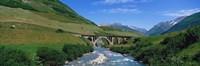 """Railway Bridge Switzerland by Panoramic Images - 36"""" x 12"""""""