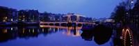 "Bridge at night, Amsterdam Netherlands by Panoramic Images - 36"" x 12"""