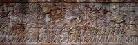 """Bas Relief Angkor Wat Cambodia by Panoramic Images - 36"""" x 12"""""""