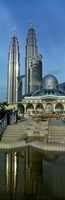 """Mosque and Petronas Towers Kuala Lumpur Malaysia by Panoramic Images - 12"""" x 36"""""""