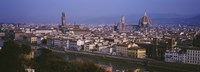 """High angle view of a cityscape, Florence, Tuscany, Italy by Panoramic Images - 36"""" x 12"""", FulcrumGallery.com brand"""