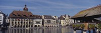 """Buildings on the waterfront, Lucerne, Switzerland by Panoramic Images - 36"""" x 12"""""""